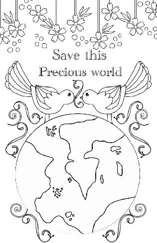 Save this Precious World Coloring Page